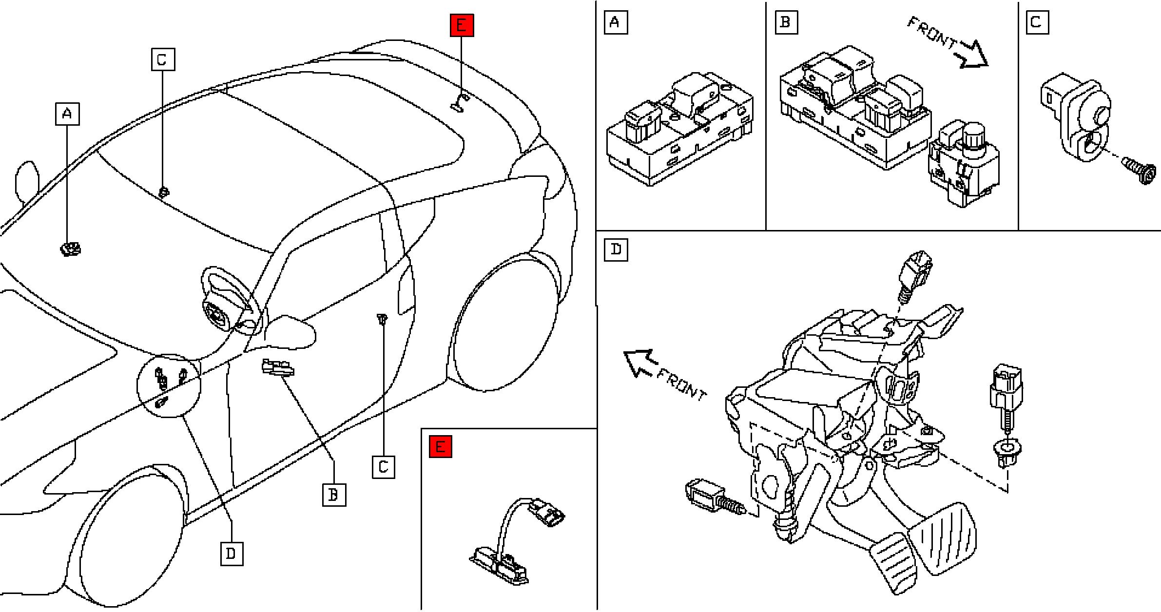 Nissan 25380-1EA1A Trunk Switch