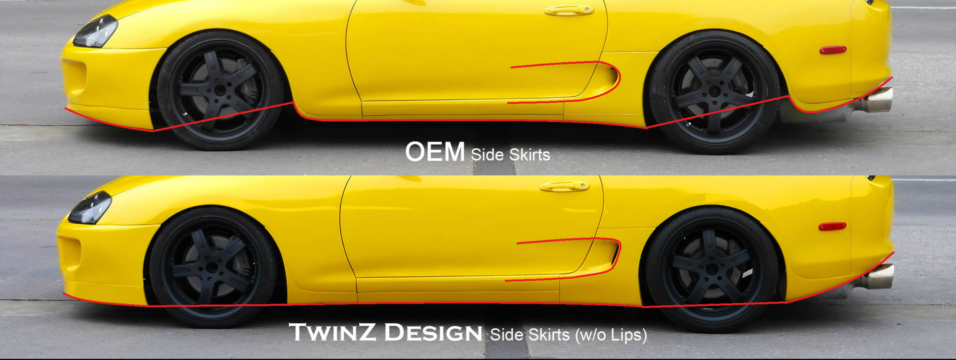 TwinZ Type 1 Side Lips Toyota Supra