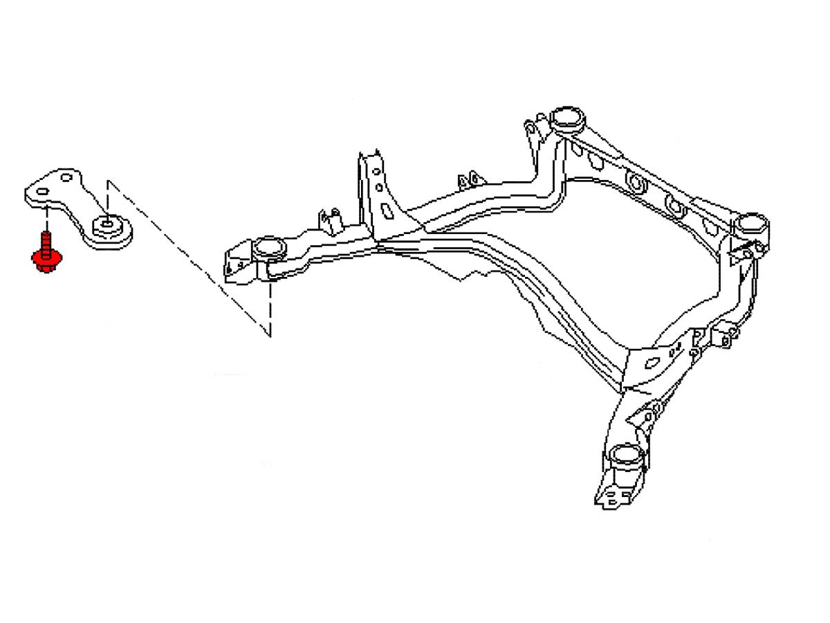 oem 300zx  z32  rear subframe support bolt  z1 motorsports