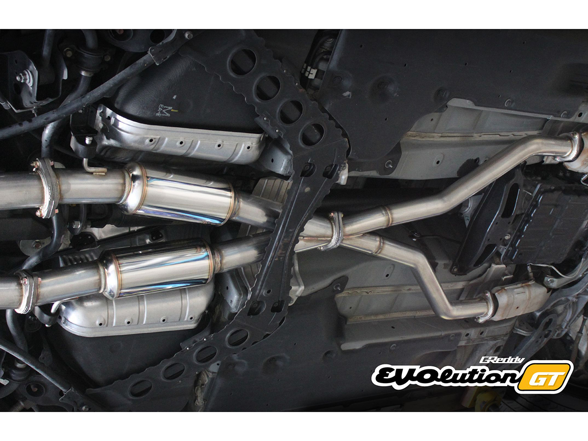 Greddy Evolution Gt 370z Cat Back Dual Exhaust Z1 Motorsports Nissan Fuse Box Location The For Is Not Only Ideal Turbocharged Vq37s But Also Makes Great Power Normally Aspirated Applications