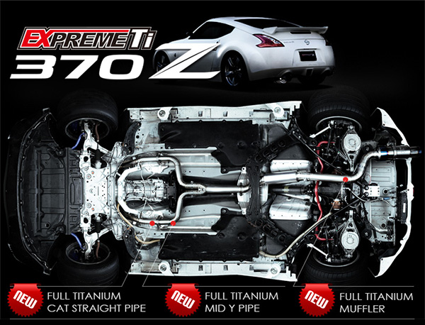 tomei expreme titanium exhaust 370z muffler  z1 motorsports