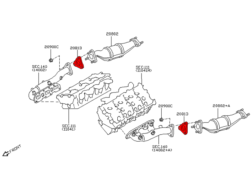 Oem 350z    G35 Exhaust Gasket  Manifold To Cat   Performance Oem And Aftermarket Engineered