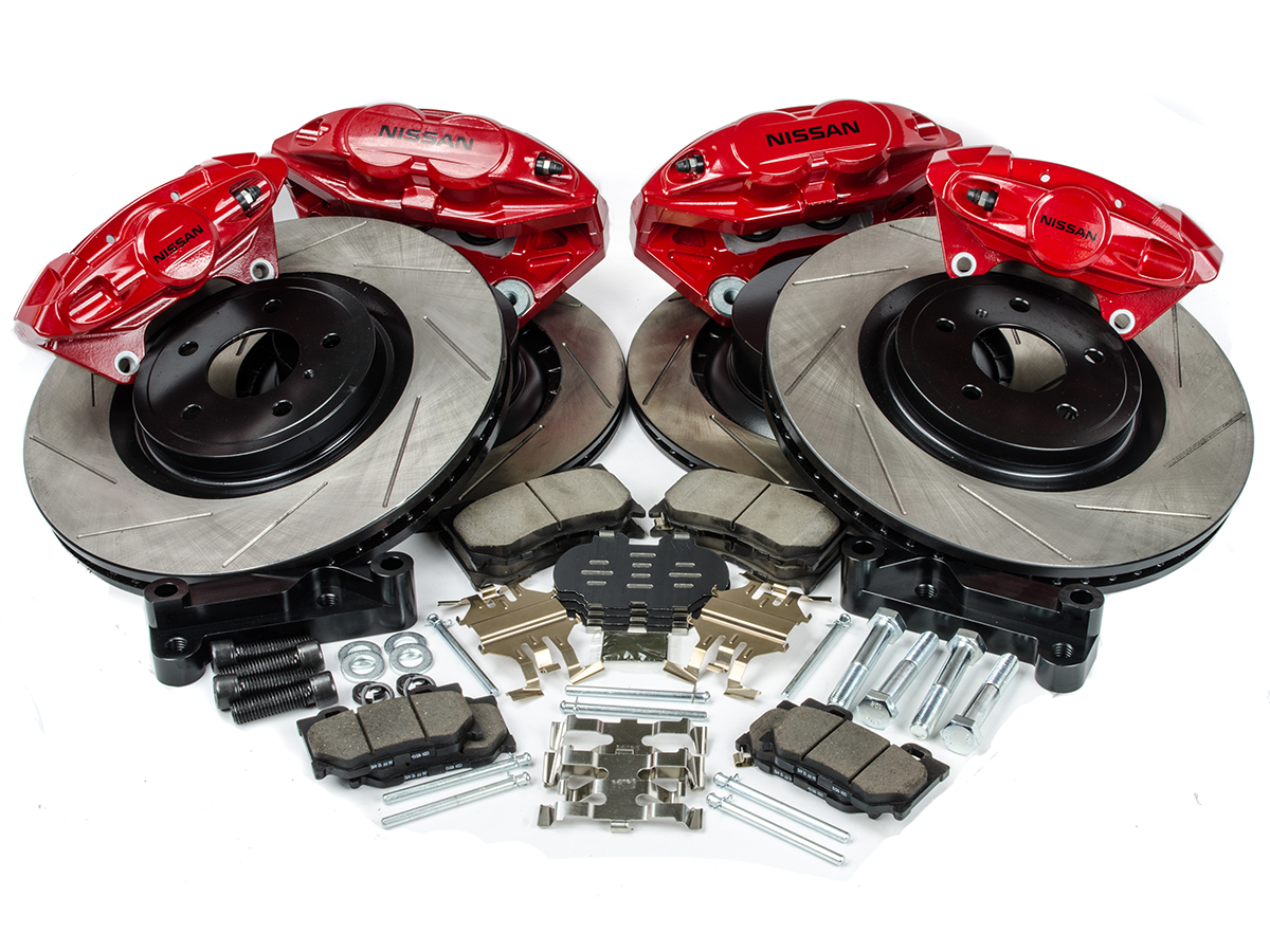 Z1 offers this complete brake upgrade package for all g35 350z owners looking for an economical complete big brake kit in comparison to the much more