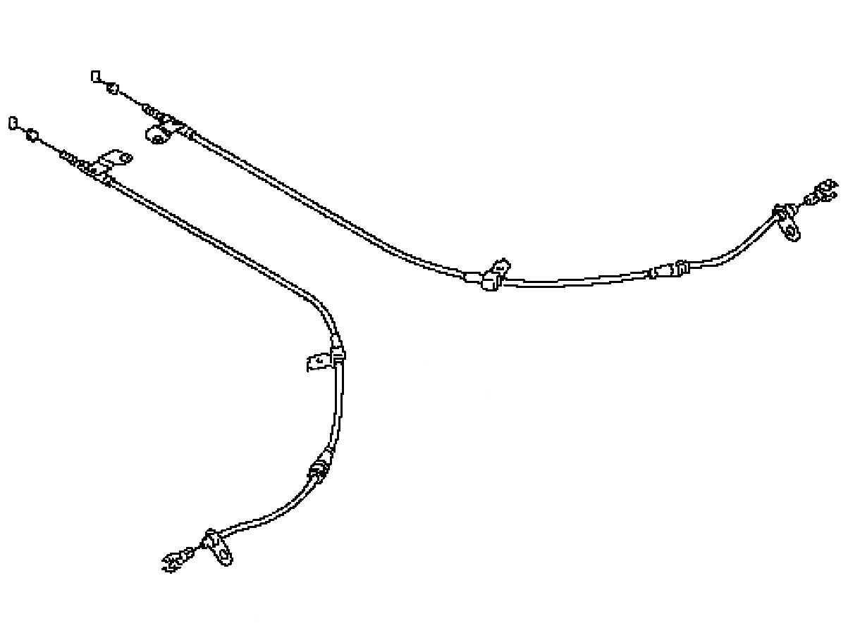 Parking brake wire 350z