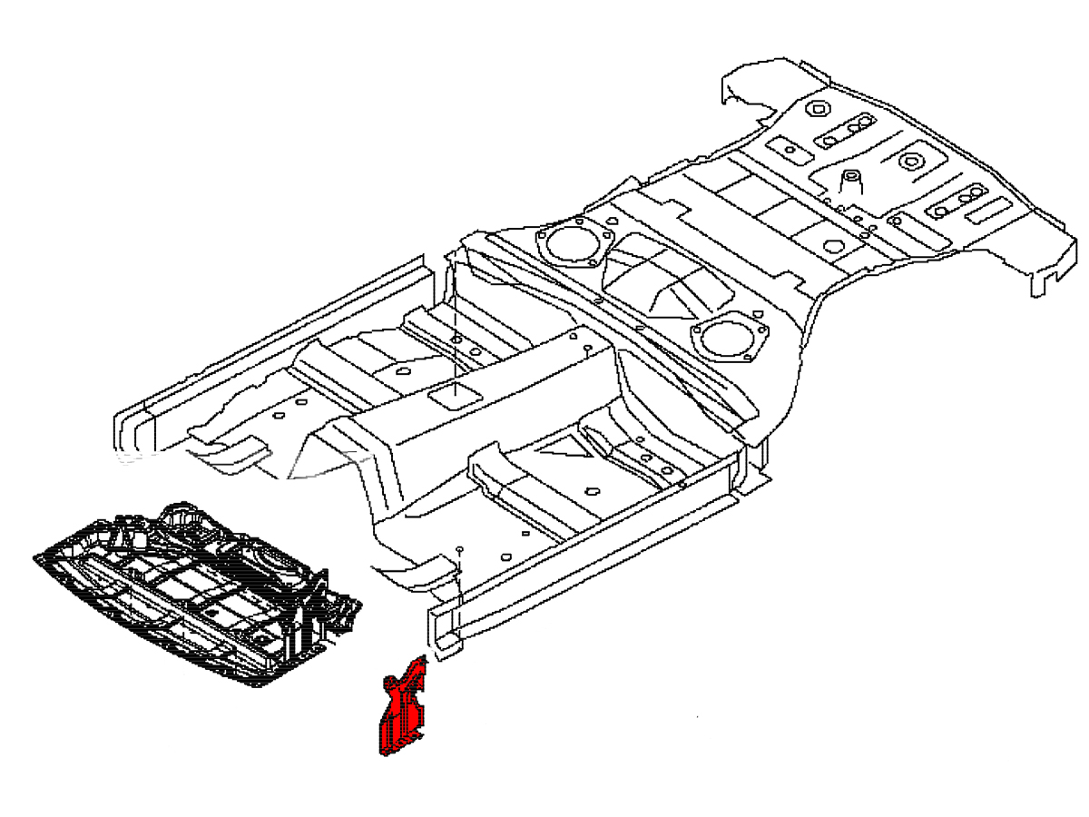 Oem Front Fender Liner Air Guide 370z Z34 Z1 Motorsports Engine Diagram Attached To The Inside Of On Your 2009 G37 This Trim Piece Is Intended Fill Gap Between Line And Chassis