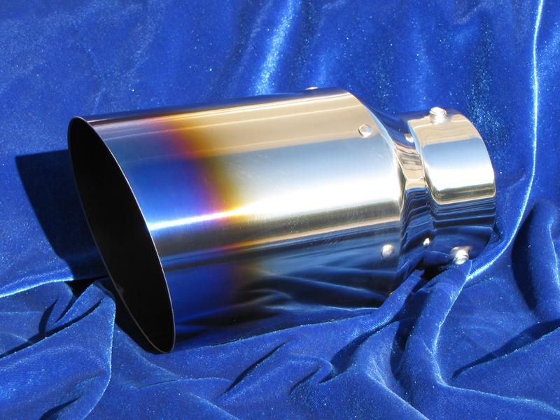 Motordyne Burnt Blue Exhaust Tips - PAIR
