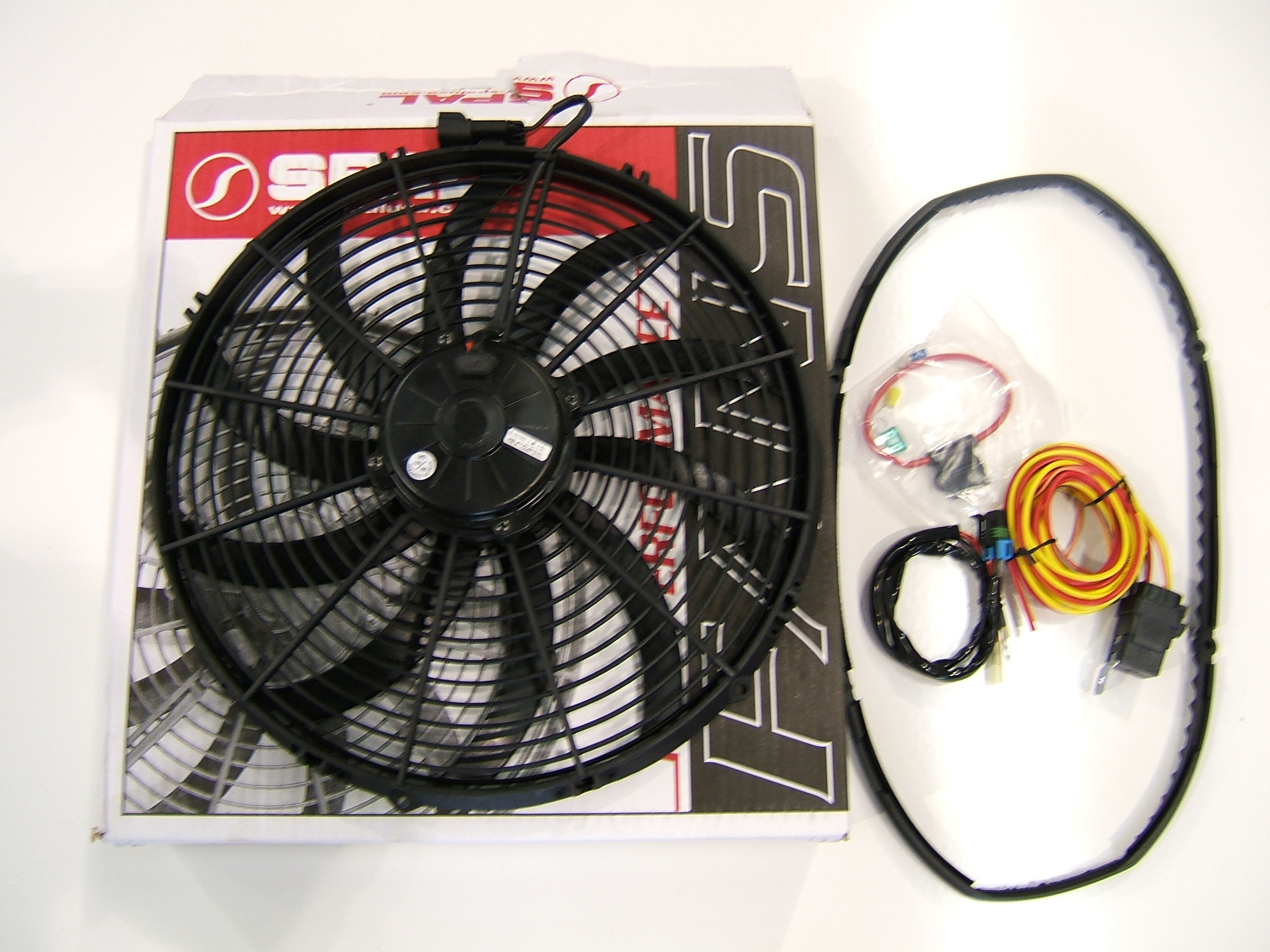 Z1 Motorsports SPAL electric fan setups flow over 3300 m3 / hr at static  pressure. An electrically driven fan reduces parasitic losses associated  with ...