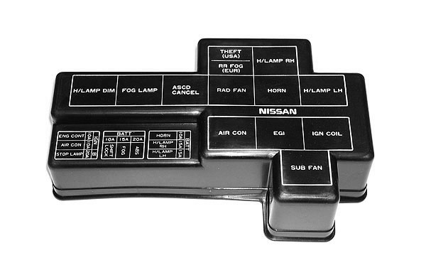 oem 300zx z32 fuse relay box cover z1 motorsports 300zx performance specialist. Black Bedroom Furniture Sets. Home Design Ideas