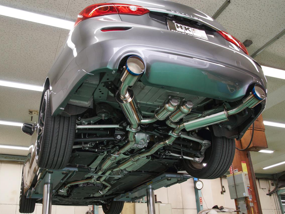 HKS Q50 Stainless Steel Cat-Back Exhaust System, Z1 ...