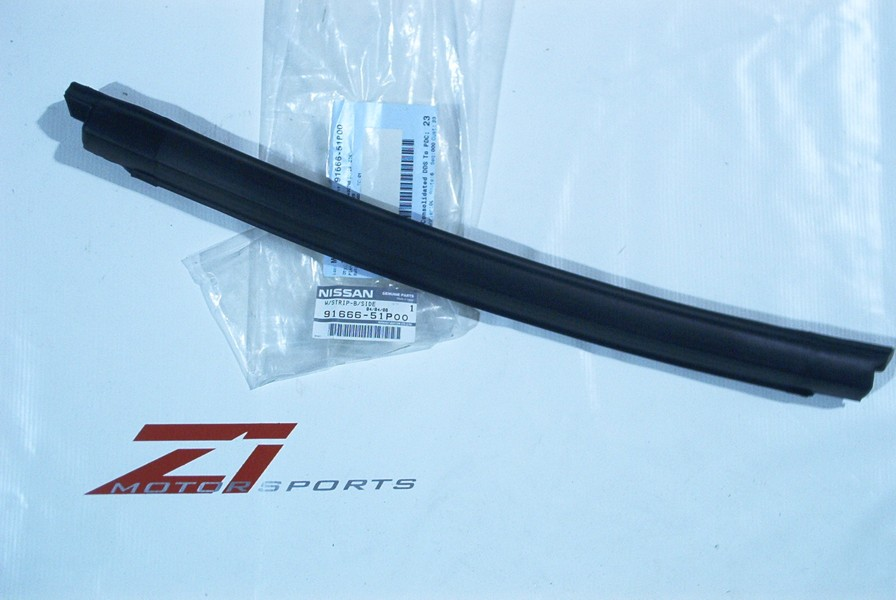 Models 300ZX. This is the only seal that attaches to the T-Top itself. This piece seals against the door glass to keep the cabin water tight. & OEM 300ZX T-Top / Door Glass Seal Z1 Motorsports