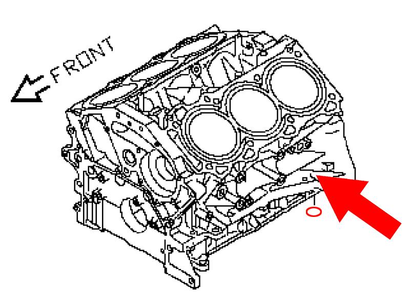 OEM VQ35DE Oil Pump / Oil Pan O-Ring (HR Girdle O-Ring)