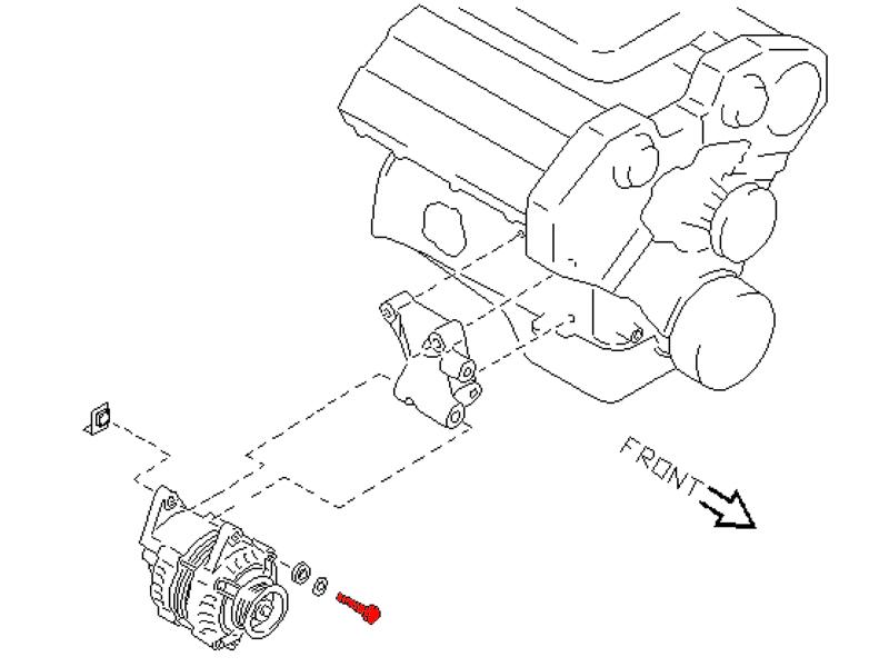 oem upper alternator pivot bolt  z1 motorsports