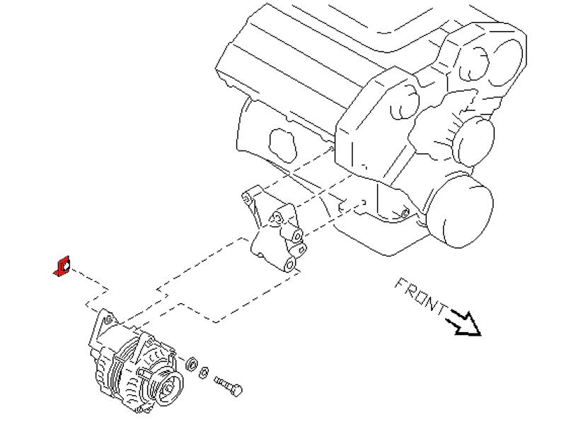 Oem 300zx Z32 Upper Alternator Pivot, 300zx Alternator Wiring Diagram