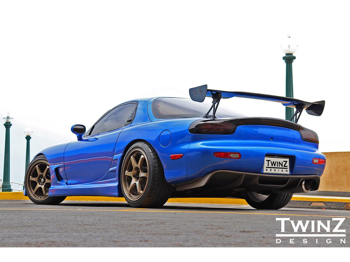 TwinZ Design FD RX7 Rear Diffuser - Type I, Z1 Motorsports