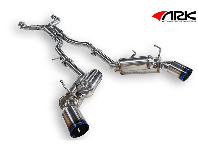 ARK Nissan 350Z GRIP V 2 True Dual Exhaust System - Burnt Tip