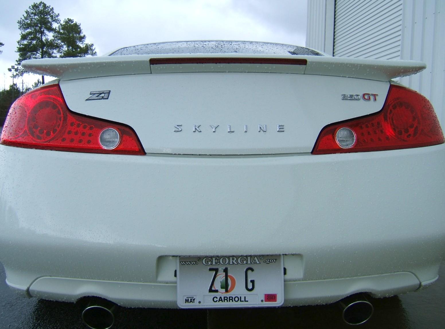 G35/V35 Skyline Coupe Rear Emblem, Z1 Motorsports