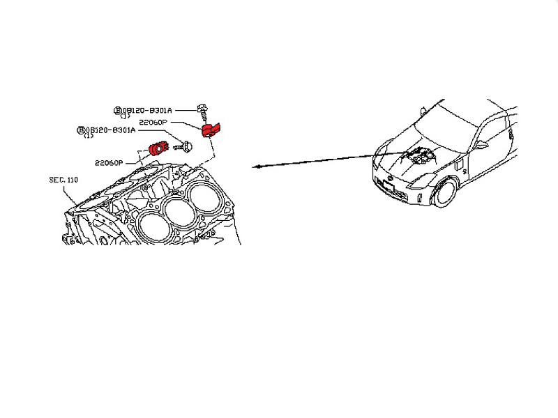 used vq35hr    vq37vhr knock sensor  z1 motorsports