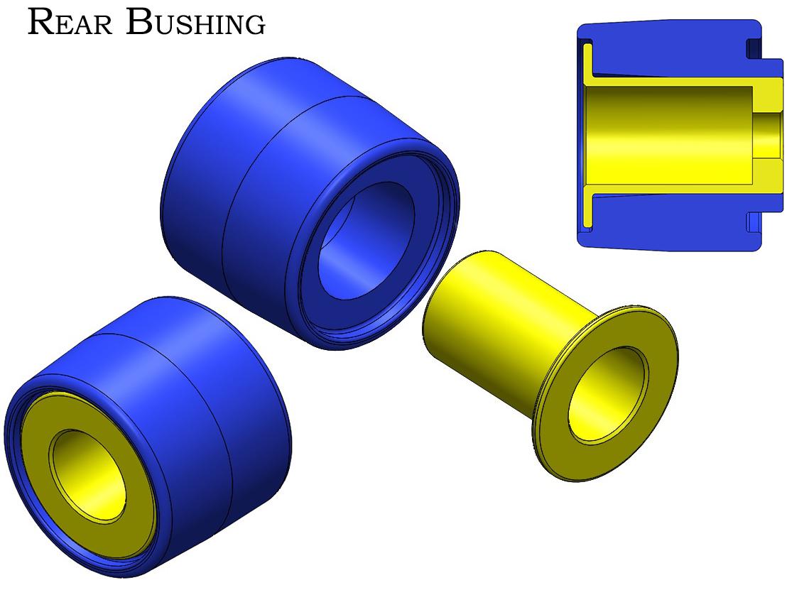 Z1 Motorsports Urethane Rear Differential Bushing Set