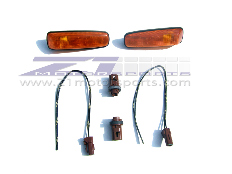 Z32JDMSideRepeaterKitwithwire 58b13209 jdm fender turn signal kit, z1 motorsports Wiring Multiple Lights at gsmx.co