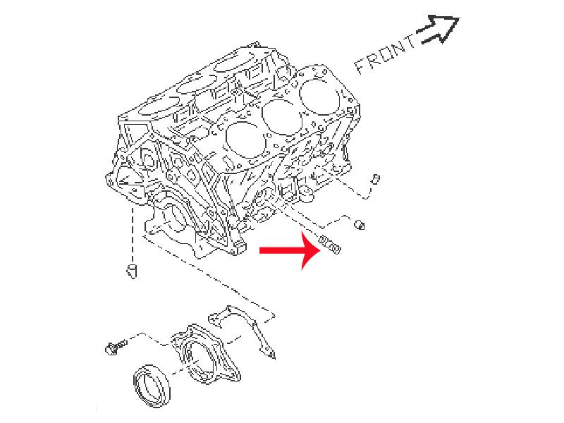 oem z32 oil filter stud  z1 motorsports
