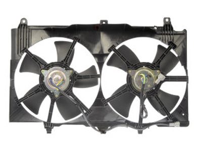 fan radiator. this is the fan motors, blades, and shroud for nissan 350z or infiniti g35. radiator s