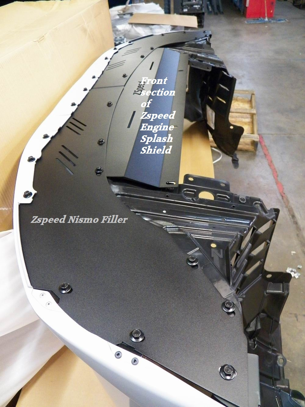 Z Speed Performance Aluminum Undershroud Nismo Front