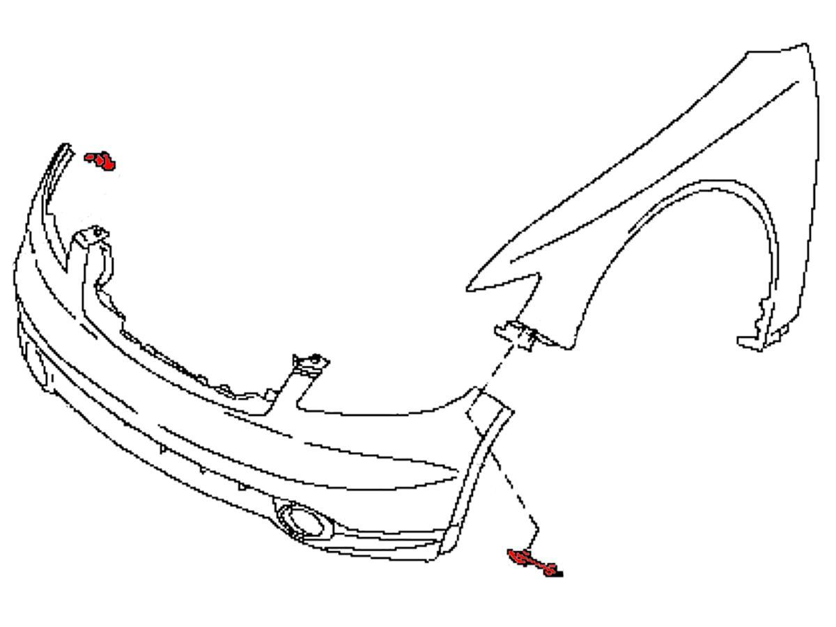 Oem Fx35    Fx45 Front Fascia Corner Bracket   Z1 Motorsports