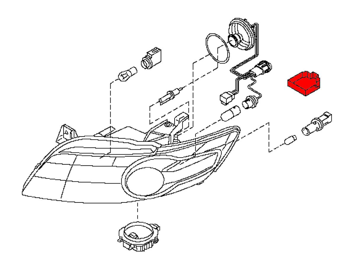 Oem Fx35    Fx45 Headlight Bracket  Z1 Motorsports