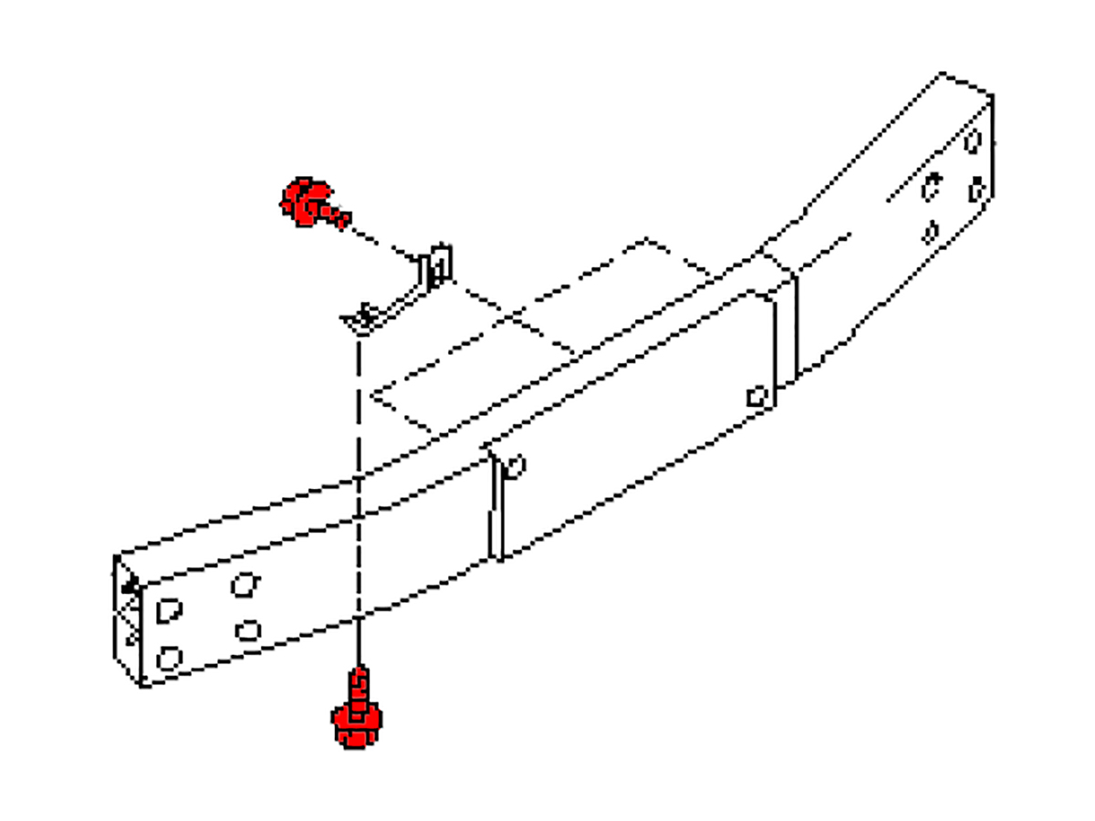 oem fx35    fx45 rear crash bar retainer clip   z1 motorsports