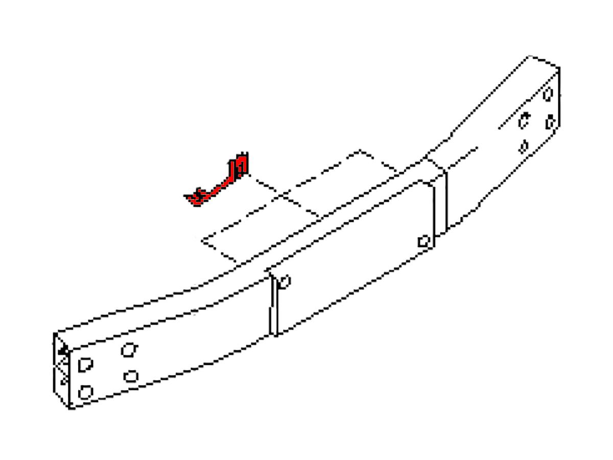 oem fx35    fx45 rear crash bar retainer   z1 motorsports
