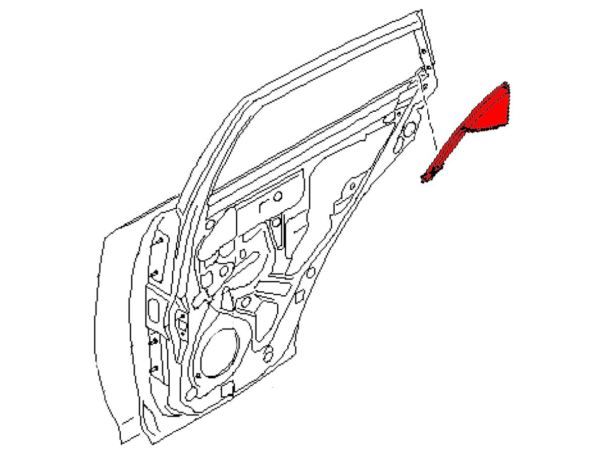 oem fx35    fx45 rear door corner trim  z1 motorsports