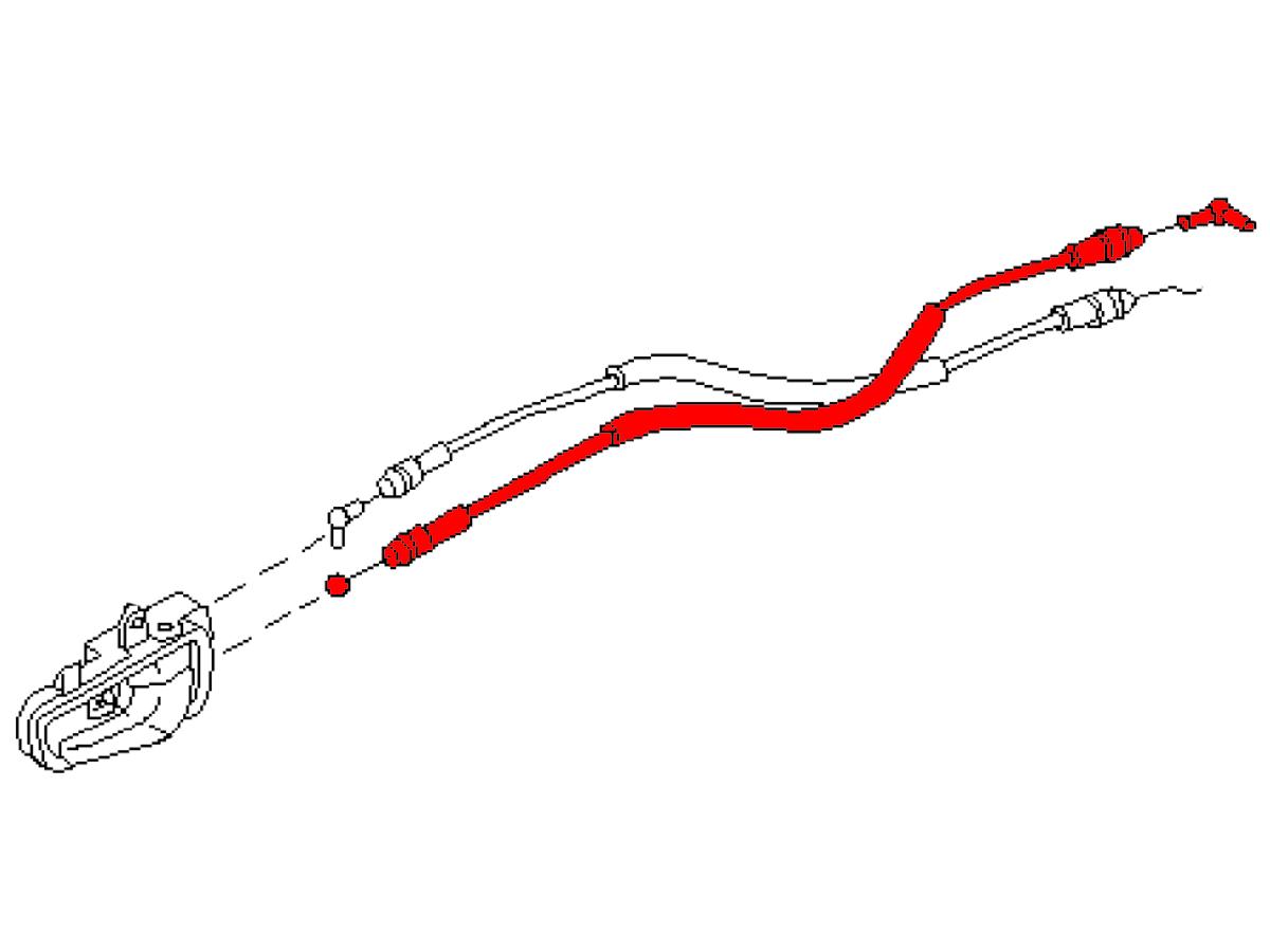Oem G35 03 06 Sedan Rear Interior Door Handle Cable Z1