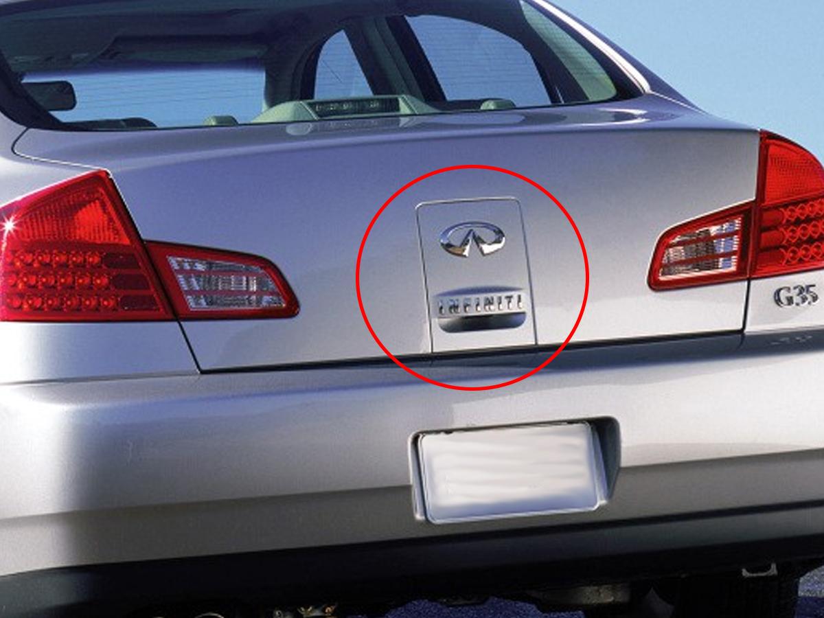 OEM 2003 G35 Sedan Trunk Lid Finisher Plate embly G Fuse Box Trunk on