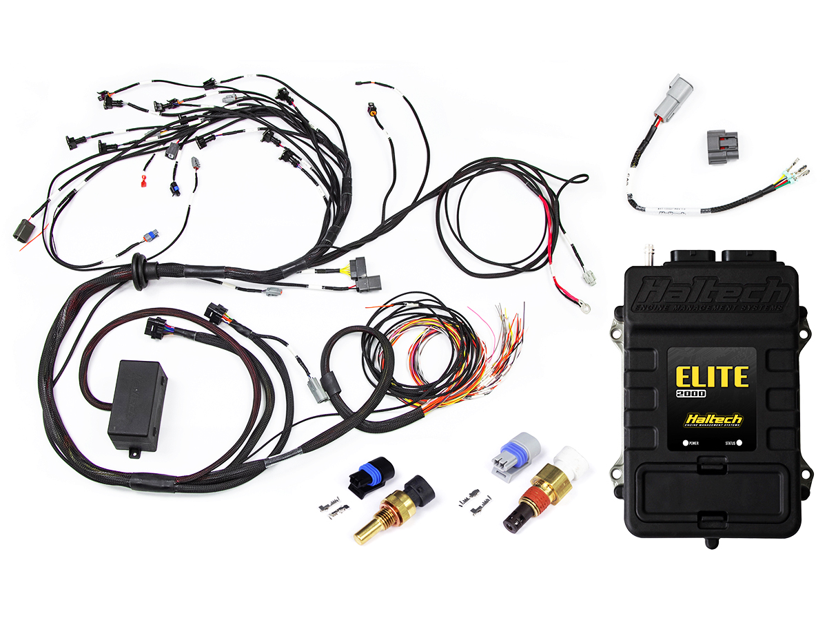 Haltech RB20/25/26 Twin Cam Elite 2000 Terminated Harness and ECU on