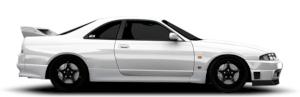 Nissan Skyline Coupe Sedan R33 GTR GT-R BCNR33 ENR33 ENR33 GTS-T GTST GTS AWD ATTESA 1995 1996 1997 1998 RB20DET RB25DE