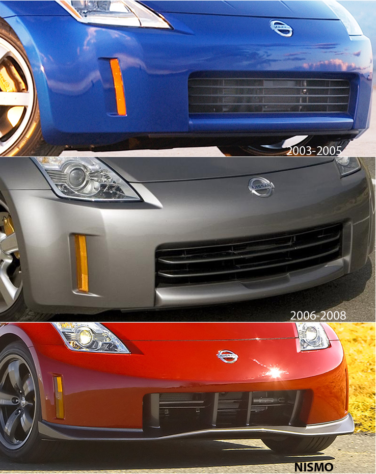 New nissan oe 350z front fascia bumper cover 2003 2005 z1 new nissan oe 350z front fascia bumper cover 2003 2005 z1 motorsports sciox Images