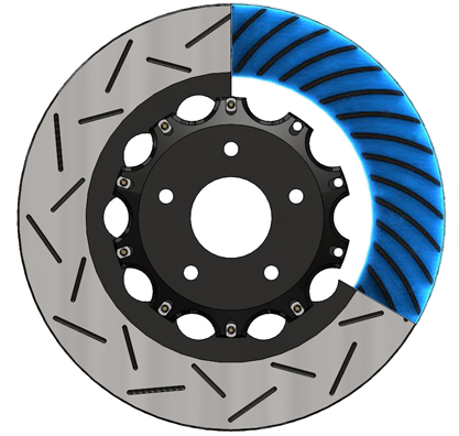 POWERSPORT BLACK *DRILLED /& SLOTTED* DISC BJ21552 2 Front Brake Rotors
